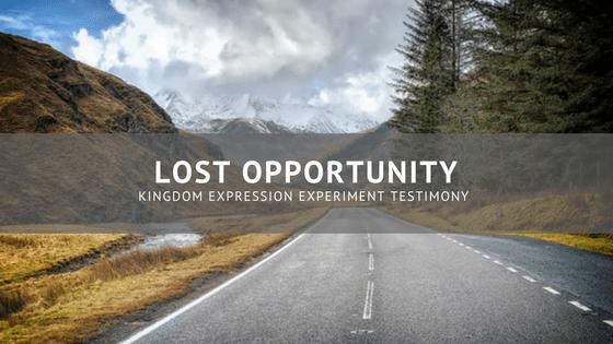 Testimony: Lost Opportunity